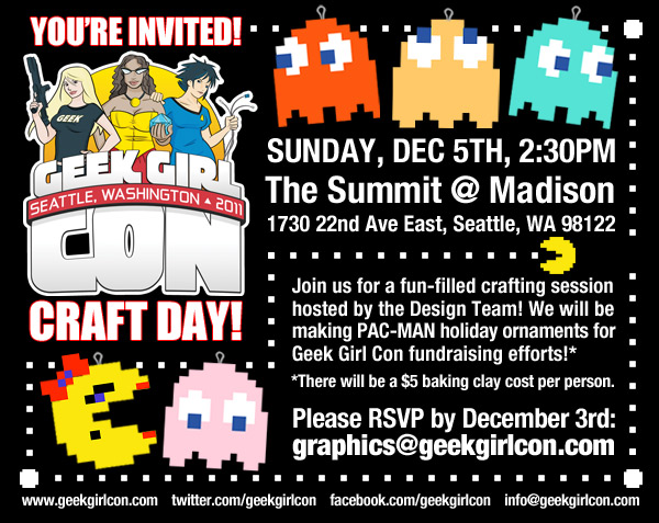 Geek Girl Con Craft Day: December 5th
