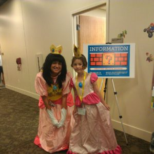 Great minds think alike! Melanie with another Princess Peach cosplayer
