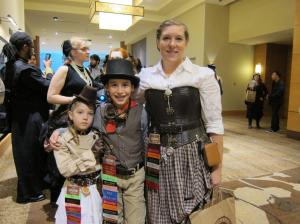 Lots more families donning the steampunk garb at Steamcon IV. So cute!