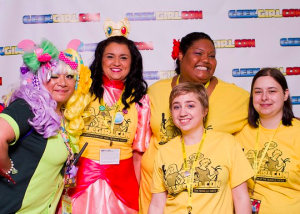 We are a diverse group celebrating geeky women and girls. Here are some of our staff members at the 2012 GeekGirlCon.