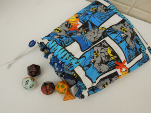 Lined Batman Dice Bag by prettypenguinapparel