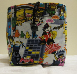 Harajuku Anime and Golden Waves Dice Bag by marsbarn
