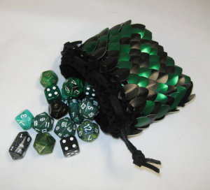 Scale Maille Dice Bag by Crystilsidyll