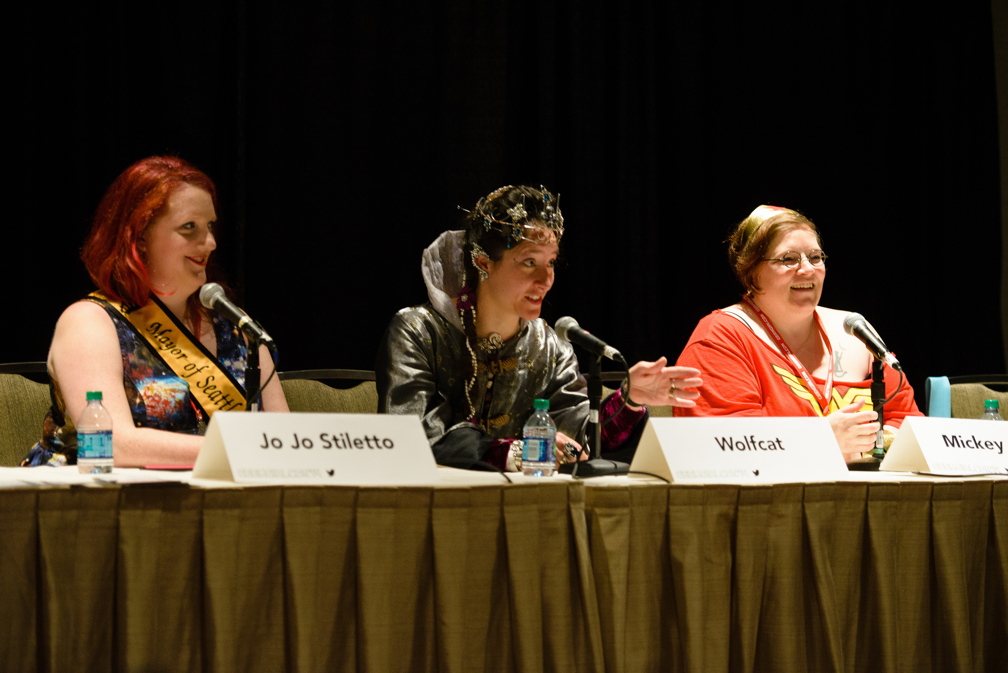 Panelists Jo Jo Stiletto, Wolfcat, and Mickey Schulz. Image from the GeekGirlCon Flickr
