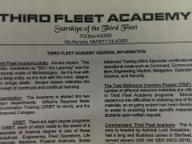 The info sheet for The Third Fleet Academy
