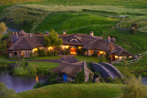 The Green Dragon Inn in Hobbiton, New Zealand