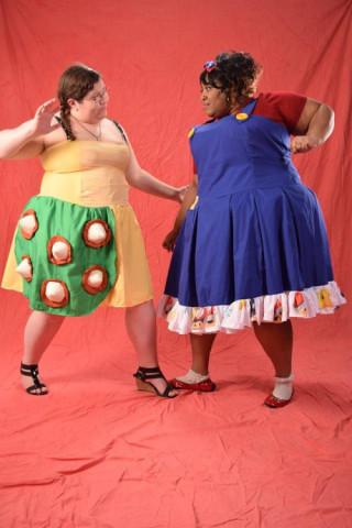 Bowser and Mario dresses, photo credit: Lavonne Brite.