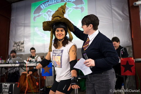 Harry Potter was available to help sort skaters into their houses. Image source: James McDaniel Photography.