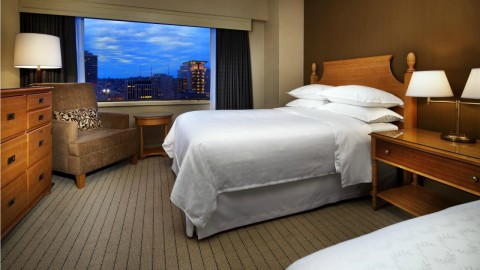 Club Double Room. Image Source: Sheraton Seattle Hotel