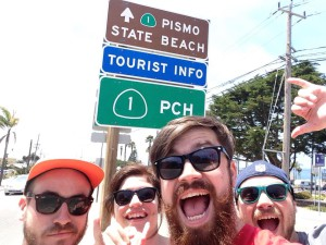 Nick Peel, Shona Brown, Matthew Sturdy and Alex Taylor at Pacific Coast Highway.
