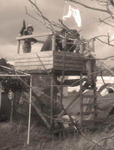 A lookout held by one of the factions in Wasteland UK. Image used from Wasteland UK gallery.