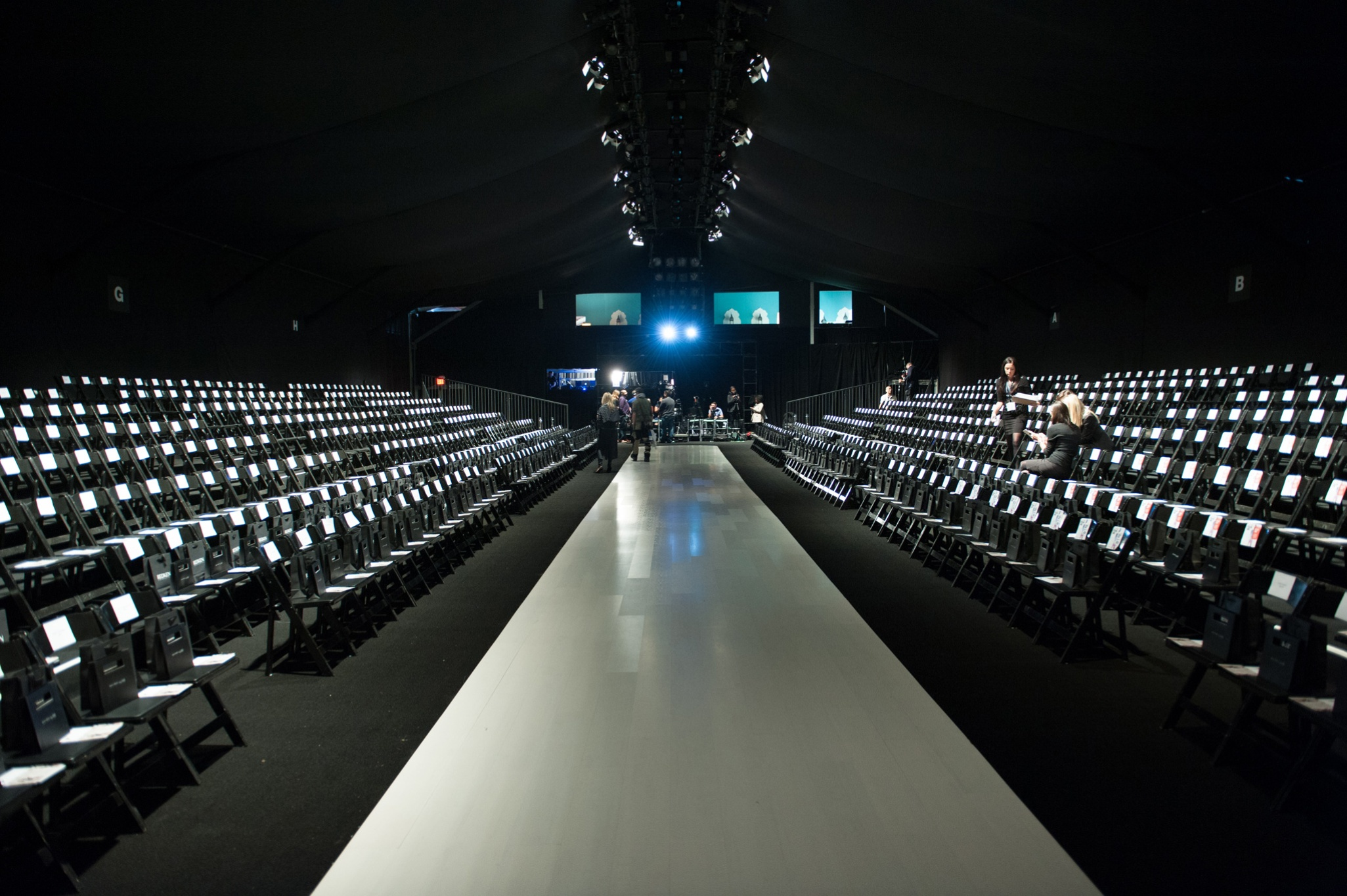 Empty fashion show runway stage for Runway stages