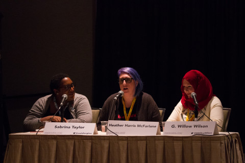 Women, Diversity, and Comics: A Non-Compliant Discussion About The Comic Book Industry. GeekGirlCon 2015 at Washington State Conference Center in Seattle, Washington. October 2015. Photo by Sayed Alamy