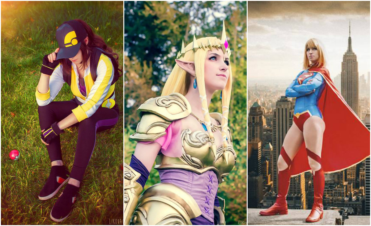 Credits: PokemonGo trainer costume made and worn by Li Kovacs; SuperGirl costume made and worn by Li Kovacs, original photo taken by Kim Nguyen, editing by Peck Photography; Hyrule Warriors Zelda costume , props and accessories made by Li Kovacs.