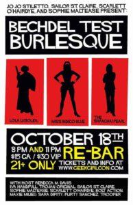 Bechdel Test Burlesque poster