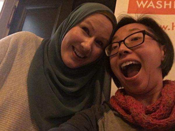 Image description: Ms. Marvel author G. Willow Wilson with JC Lau in a selfie. Image source: JC Lau