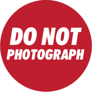 Do Not Photograph Sticker